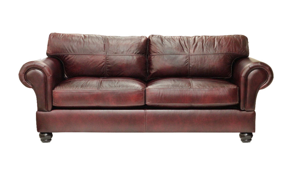 Ashton Mid Size Sofa in Chablis Leather
